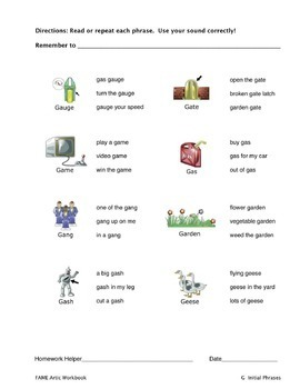Articulation Workbook for the G Sound Just Print