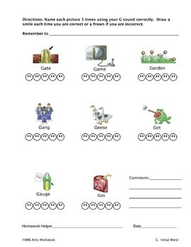 Articulation Workbook for the G Sound Just Print