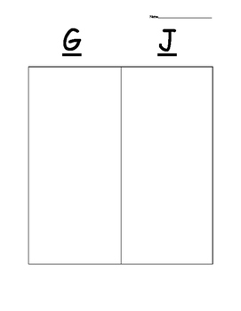 G and J sort
