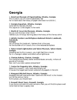 G is for Georgia state facts