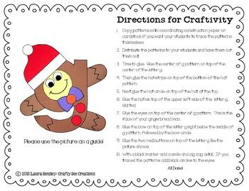 Letter G Craft {Gingerbread Man}