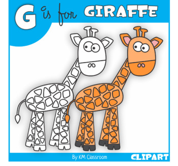G is for Giraffe Clip Art