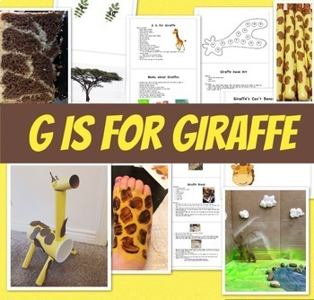 G is for Giraffe Activity Booklet