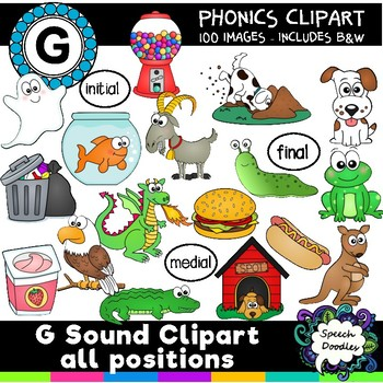 G sound clipart -100 images! For Commercial & Personal Use -Articulation Clipart