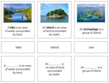 G051: about LAND FORMATION 3 part cards