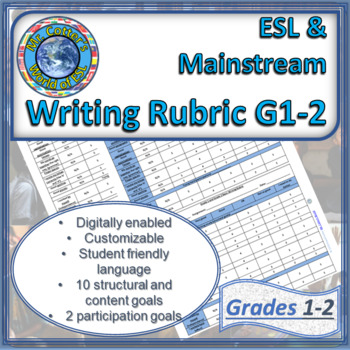 G1 ESL Rubric: Creative Writing (Modifiable, Useful for Mainstream as well!)