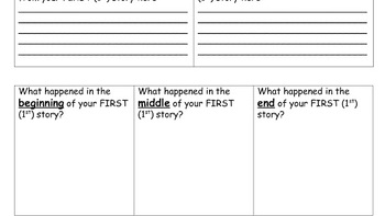 G1 G2 G3 Parts of a Story AND Moral of the Story worksheets