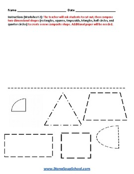 Grade 1 Geometric Shapes - For Traditional Students - Common Core