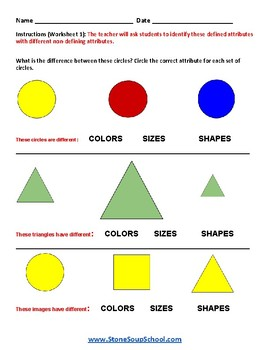 Grade 1 - Geometry Shapes - For Traditional Students - CCS
