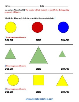 Grade 1 - Geometric Shapes -  Speech and Language Impairments   - Common Core