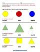 Grade 1 - Geometric Shapes -  Speech and Language Impairments   - Common Core