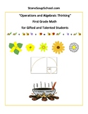 "Distance Learning, Grade 1, CCS: ""Operations/Algebraic/Fib"