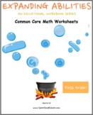 Grade 1 - Math Bundle: CCS - M&D, Geometry, Algebra, Base 10