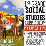 1st Grade Social Studies My Family & Me Distance Learning