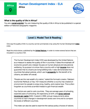 Bundle G11-12 Informative Reading & Writing-Human Development Index Task