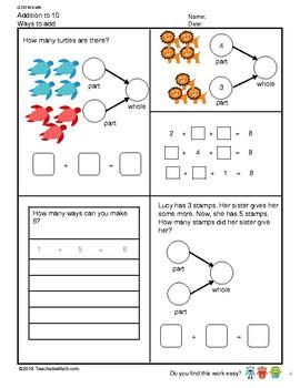 G1S1W3-MW Addition to 10 (Singapore Mastery Method)