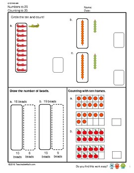 G1S1W6-MW Numbers to 20 Counting and Place Value (Singapore Mastery Method)