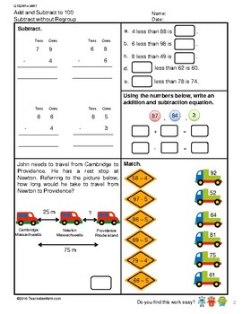 G1S2W14-MW1 Subtraction to 100 Without Regroup (Singapore Mastery Method)