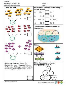 G1S2W8-MW Adding Three Numbers (Singapore Mastery Method)