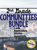 2nd Grade Social Studies Communities YEAR LONG BUNDLE Google Distance Learning