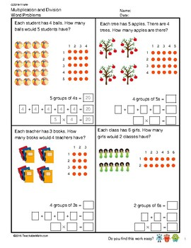 G2S1W11-MW Multiplication and Division Word Problems (Singapore Mastery Method)