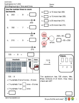 G2S1W5-MW2 Subtraction to 1000 Regroup in Tens & Ones (Singapore Mastery Method)