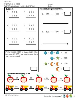 G2S1W6-MW1 Subtraction to 1,000 Regrouping in Hundreds & Tens (Singapore Mastery