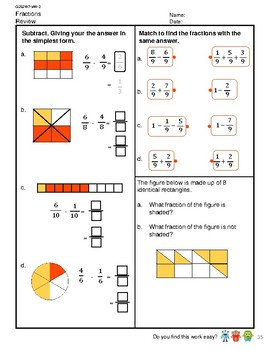 G2S2W7-MW2 Fractions Subtract Like Fractions Sum Less Than One  (SG Mastery)
