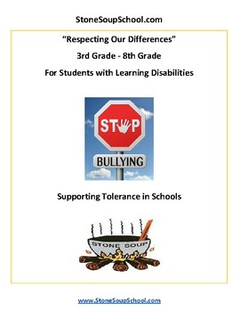 G3 - 8 Respecting Our Differences-Supporting Tolerance -w/ Learning Disabilities