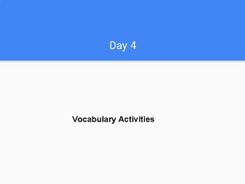 G3 Journeys Lesson 12 - Vocabulary Activities
