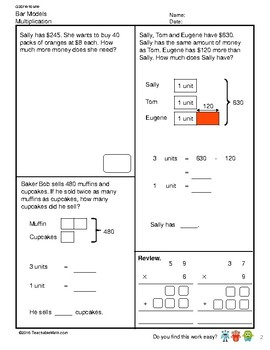 G3S1W16-MW Bar Models Multiplication and Division (Singapore Mastery Method)