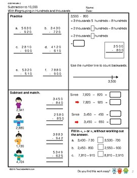 G3S1W6-MW2 Subtraction to 10,000 Regrouping in 100s & 1000s (Singapore Mastery)