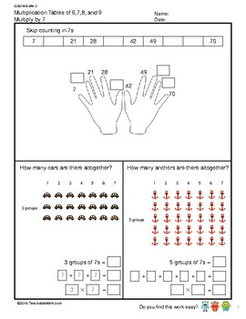 G3S1W9-MW2 Multiplication Tables of 7 (Singapore Mastery Method)