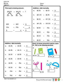 G3S2W1-MW Money Addition (Singapore Mastery Method)