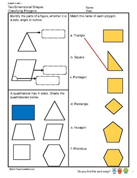 G3S2W11-MW1 Two-Dimensional Shapes (Singapore Mastery Method)