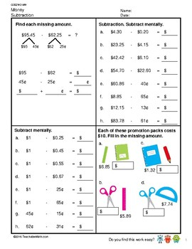 G3S2W2-MW Money Subtraction (Singapore Mastery Method)