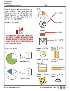 G3S2W6-MW1 Understanding Fractions (with answers) (Singapore Mastery Method)