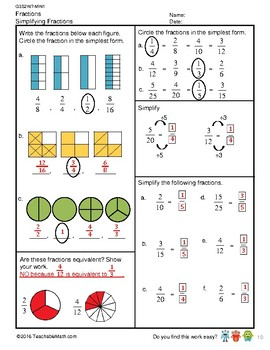 G3S2W7-MW1 Equivalent Fractions_WithSolutions (Singapore Mastery Method)