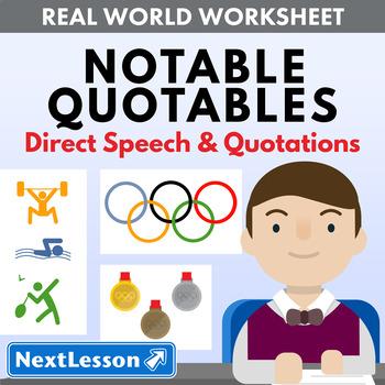 G4 Direct Speech & Quotations - 'Notable Quotables' Essent