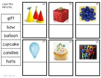 G4 Party Items Labeling