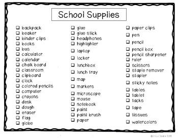 G4 School Supplies Photo Labeling