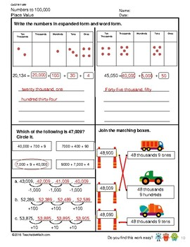 G4S1W1-MW Numbers to 100,000 Counting and Place Value (Singapore Mastery Method)