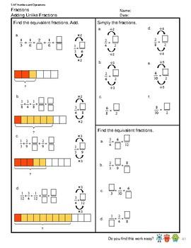 G4S1W11-MW1 Adding Unlike Fractions (Singapore Mastery Method)