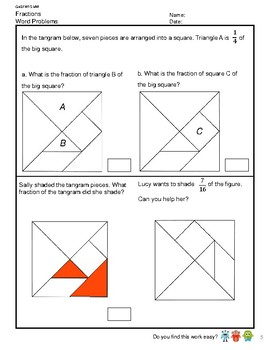 G4S1W15-MW Word Problem Add Subtract Fraction Fraction of a Set (SG Mastery)