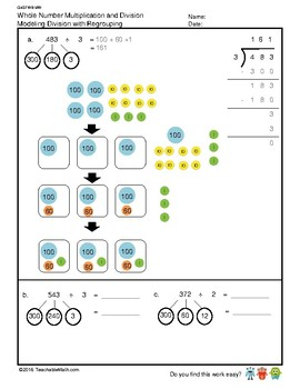 G4S1W8-MW Modeling Division with Regroup (Singapore Mastery Method)