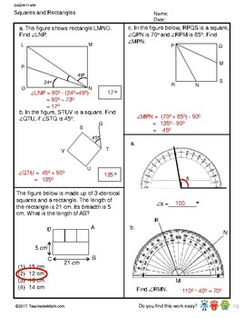 G4S2W11-MW Squares and Rectangles_WithSolutions (Singapore Mastery Method)