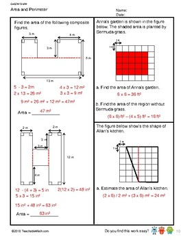 G4S2W13-MW Area and Perimeter_WithSolutions (Singapore math)