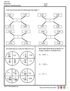 G4S2W3-MW Decimals Fractions and Decimals (Singapore Mastery Method)