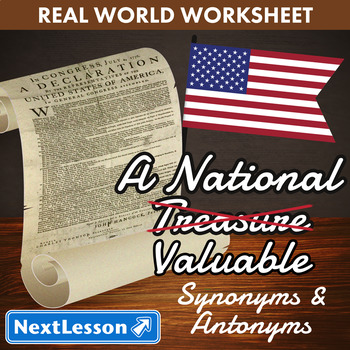 G5 Synonyms & Antonyms - 'A National Valuable' Essential: Dec of Independence