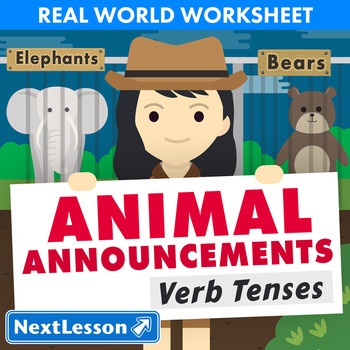 G5 Verb Tenses - Animal Announcements Essential: Elephants